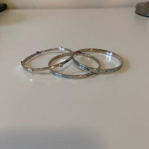 Coach Stackable Silver Bracelets